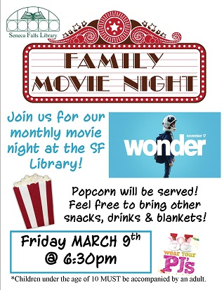 Family Movie Night:  Wonder (Rated PG, 2017)