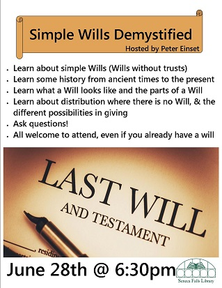 Simple Wills Demystified