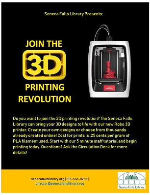 3d printer available