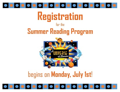 registration for summer reading program
