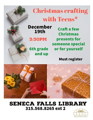 Christmas Crafting with Teens