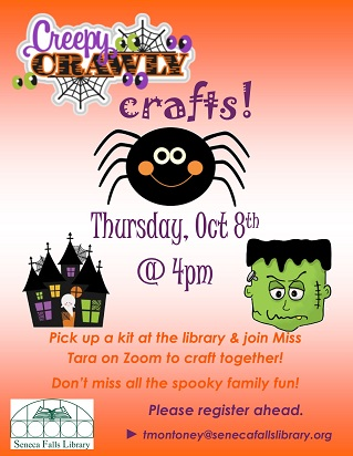join us for some creepy crafting fun on zoom.