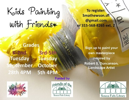 Kids Painting with Friends