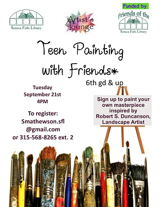 Teens Painting with Friends
